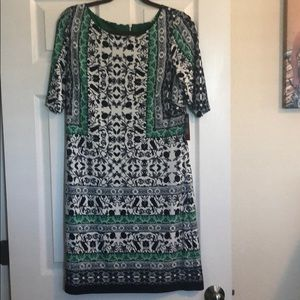 Vince Camuto Black and green dress size 12